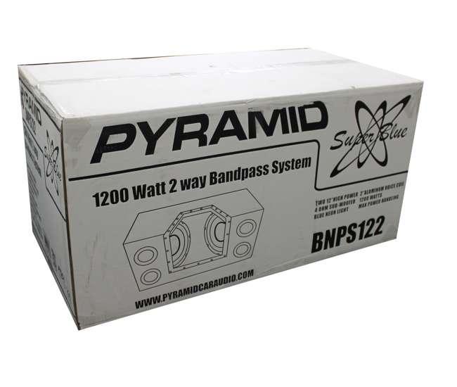 BNPS122 Pyramid BNPS122 12-Inch 1200W Subwoofers w/ Box (Dual)