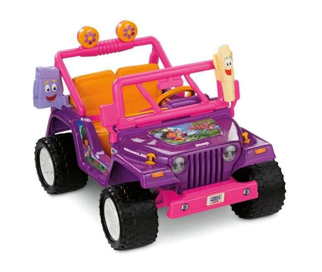 T6137 Power Wheels Dora the Explorer Jeep Wrangler 12V Ride-on | T6137
