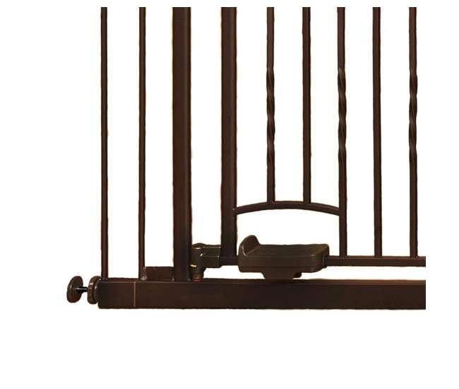 4935 North States Slide-Step & Open Hands-Free Baby / Pet Metal Gate - Steel | 4935