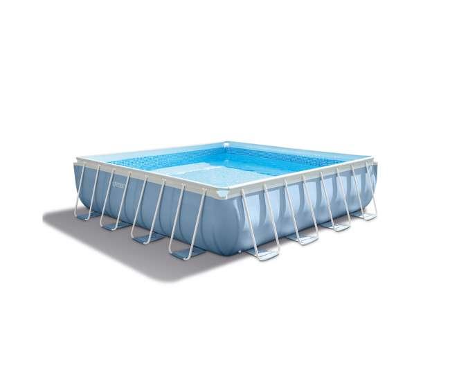 Intex 16 feet x 16 feet x 48 inches prism frame square pool set 28765eh - Intex prism frame ...