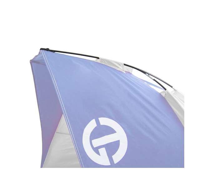 TGT-CRUZBAY-2-B-U-A Tahoe Gear Summer Sun Shelter and Beach Shade, Blue & White (Open Box) (2 Pack)