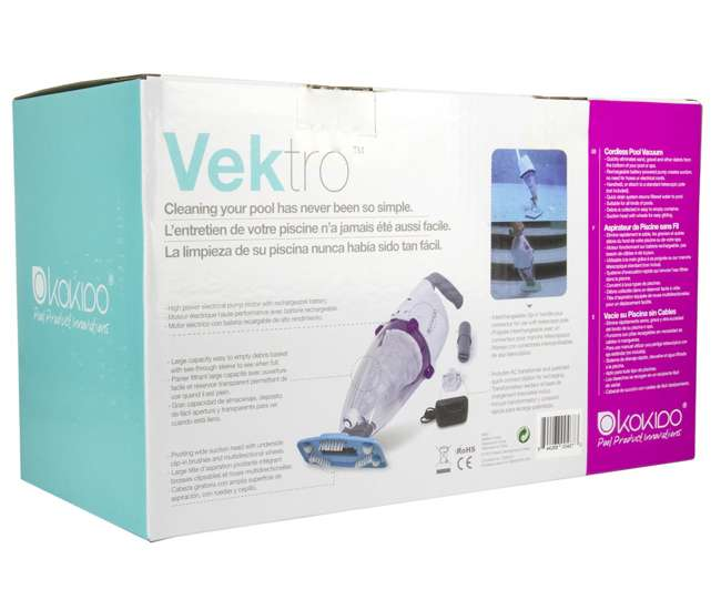 K601CBX/USKokido Vektro Handheld Vac Swimming Pool Rechargeable Vacuum Cleaner