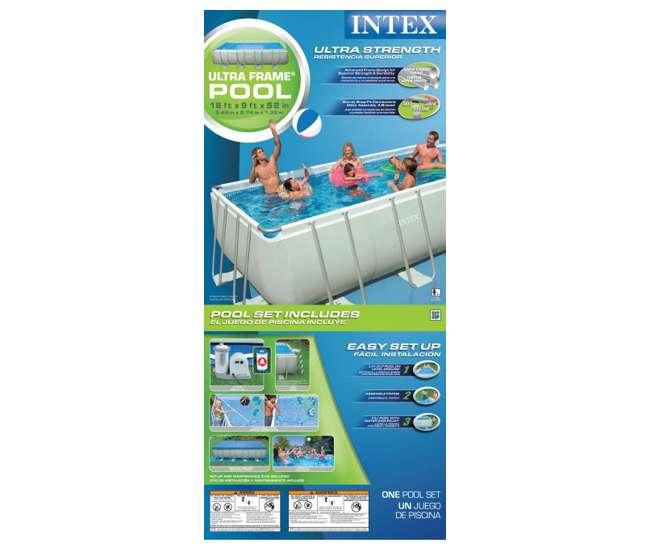 Intex 18 39 X 9 39 X 52 Ultra Frame Rectangular Swimming Pool Complete Set 54481eg