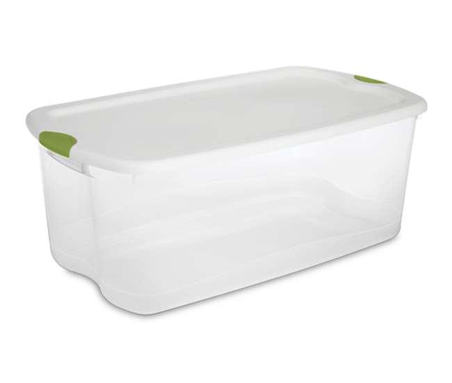 8 x 18898004 Sterilite 106-Quart Latching Clear Storage Tote Box (8 Pack) | 18898004