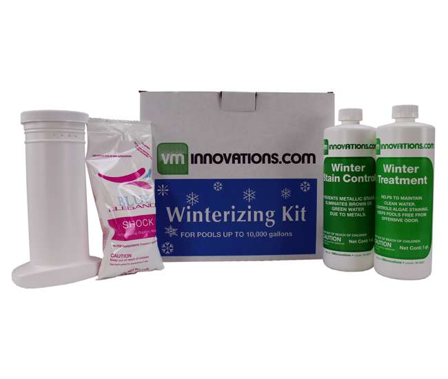 Swimming pool winterizing chemical closing kits up to 10k gallons closekit 10k for Chemicals needed to close swimming pool