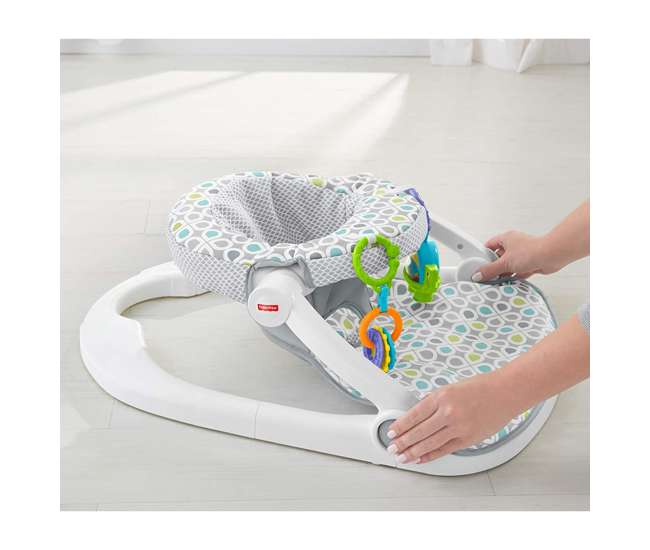 FLD88 Fisher-Price Supportive Sit-Me-Up Comfy Interactive Floor Seat Infant Mat Toy