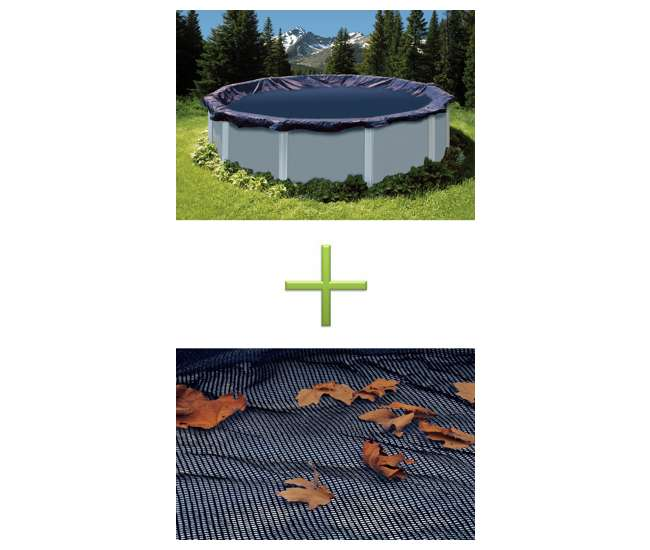 Swimline 15 39 Deluxe Round Above Ground Swimming Pool Winter Cover With Leaf Net Pco818 Co915