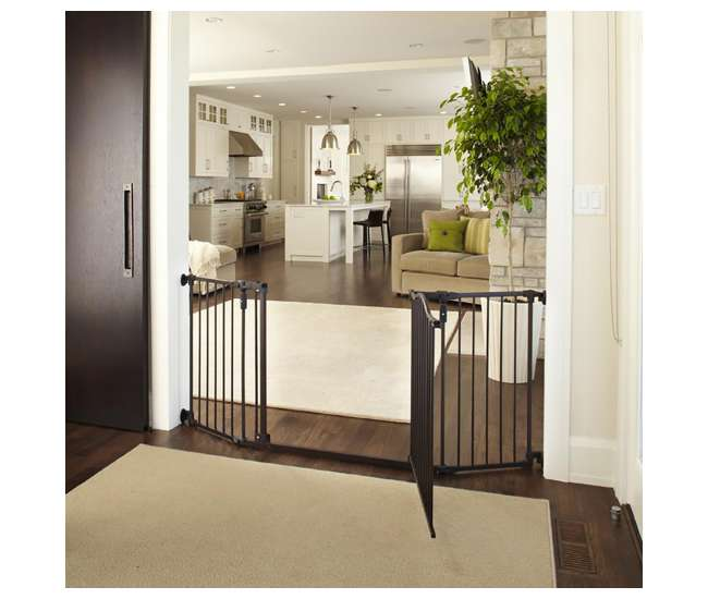 4934 North States Deluxe Decor Baby and Pet Metal Gate, Bronze