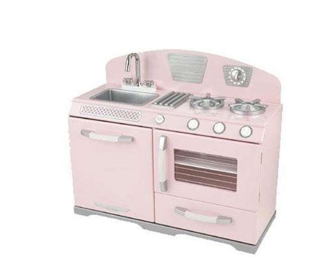Kidkraft Pink Retro Kitchen Stove Amp Oven Girls Play Set