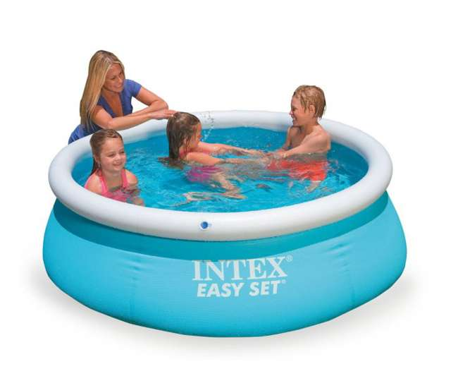 intex 6 39 x 20 easy set inflatable swimming pool 28101eh. Black Bedroom Furniture Sets. Home Design Ideas