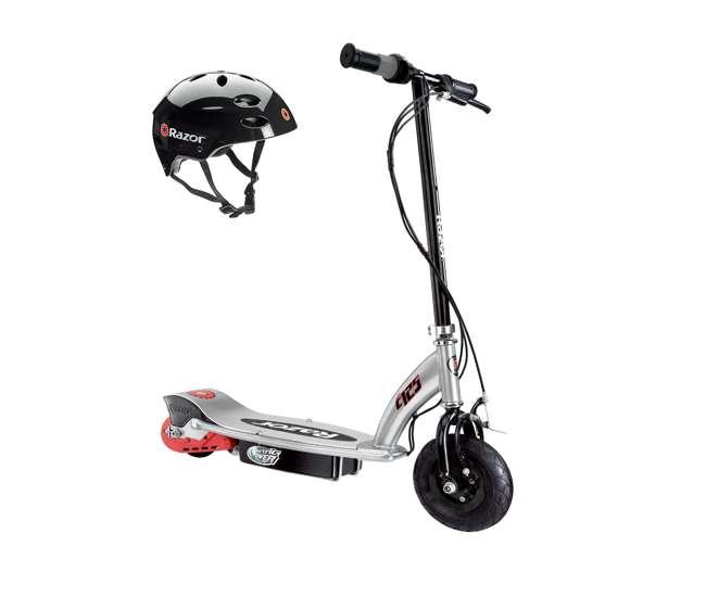 Razor e125 motorized 24 volt electric scooter black for Razor e300 electric 24 volt motorized ride on kids scooter