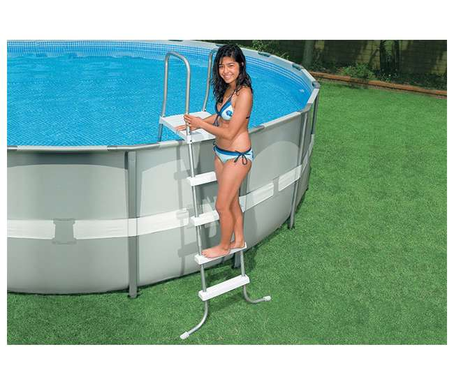 Intex 18 39 x 52 ultra frame swimming pool set w sand pump for Intex pool handler