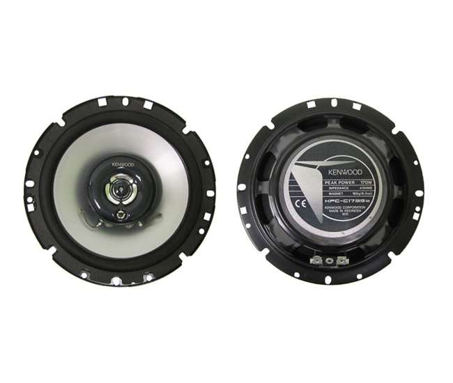 KFCC1739IE Kenwood KFC-C1739IE 7-Inch 170 Watt 3-Way Custom Fit Car Audio Speakers (Pair)