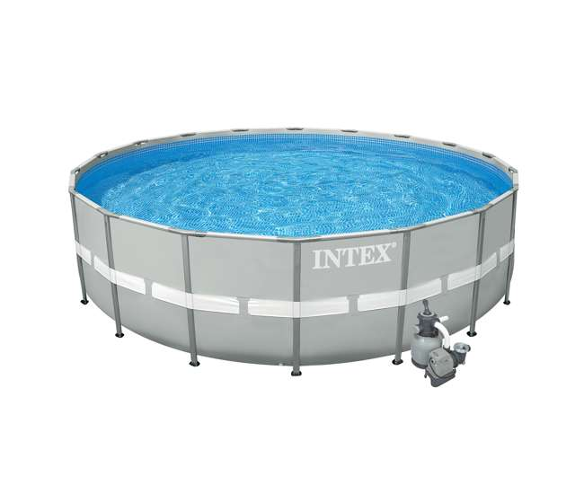 Intex 20 39 x 52 ultra frame above ground pool set with for Intex pool handler
