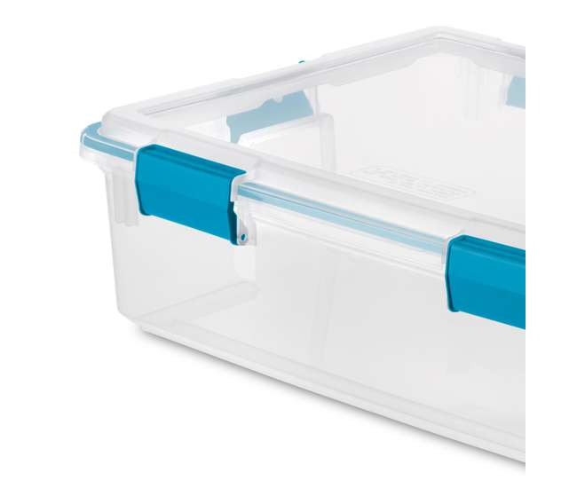 8 x 19314304 Sterilite 37 Quart Thin Gasket Box Storage Containers, 8-Pack