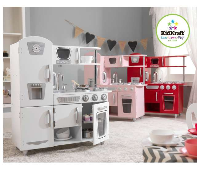 KidKraft Vintage Kitchen (White) : 53208 : VMInnovations.com