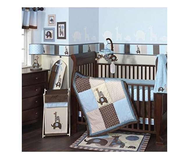 Lambs & Ivy Jake Giraffe & Elephant 5 Piece Crib Bedding ...