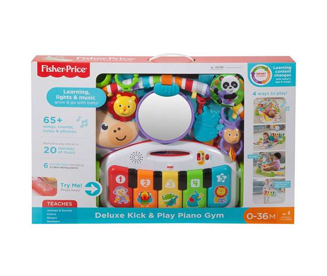 FGG45 Fisher-Price FGG45 Deluxe Kick and Play Piano Gym Musical Development Playset