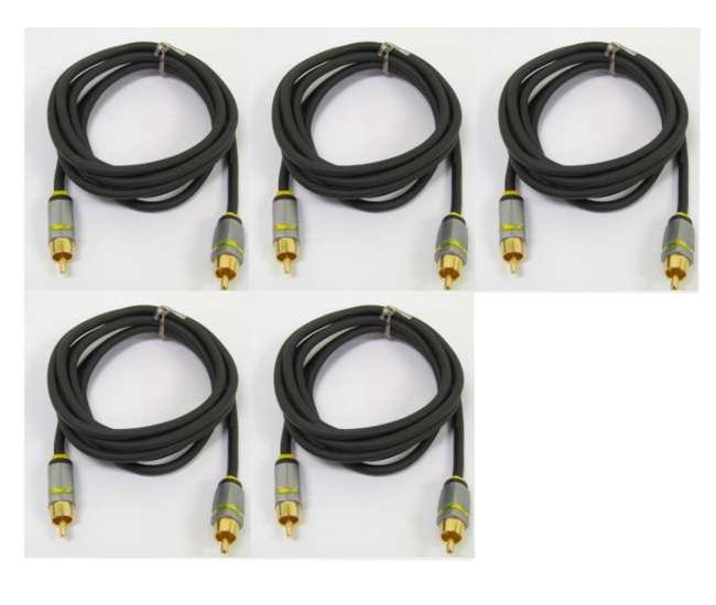 5 x VRX31R (5) Phoenix Gold PG300 Rca Component Video Cable Tv/dvd