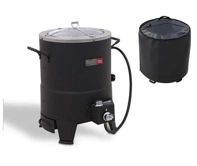 14101480 + 5585782 Char-Broil the Big Easy TRU-Infrared Oil-less Turkey Fryer with Cover
