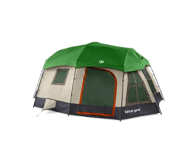 TGT-OZARK-16-D-U-C Tahoe Gear Ozark 16 Person 3 Season Family Cabin Tent, Brown (For Parts)