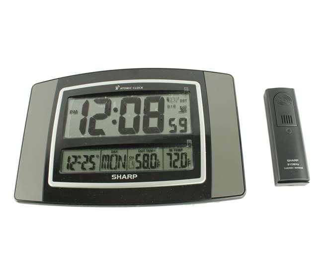 Sharp atomic wall clock w wireless indoor outdoor for Sharp atomic wall clock spc