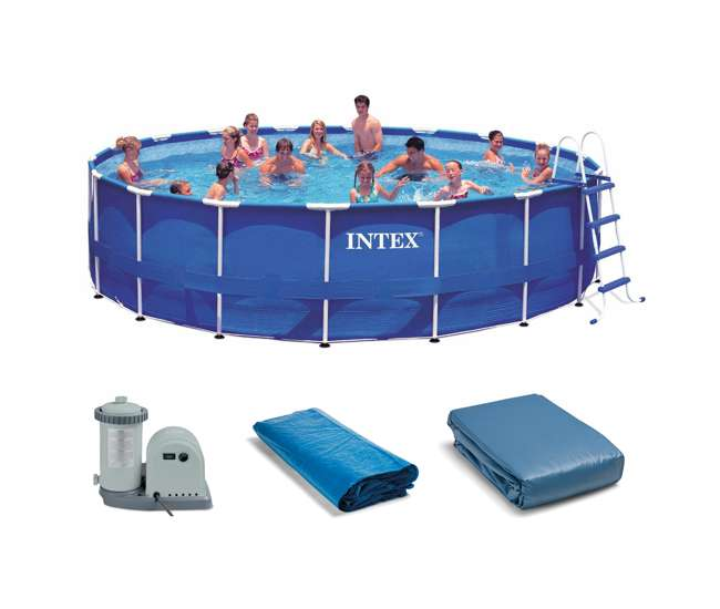 Intex 18 39 X 48 Metal Frame Swimming Pool Set With 1500 Pump 28251eh