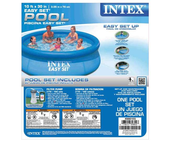intex 10 39 x 30 inch easy set swimming pool 530 gph. Black Bedroom Furniture Sets. Home Design Ideas