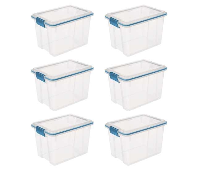 19324306 Sterilite 20 Quart Gasket Box (6 Pack)