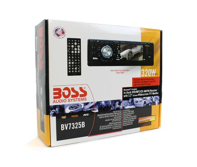 BV7325BBOSS BV7325B 3.2-Inch LCD Bluetooth DVD/CD/USB Receiver