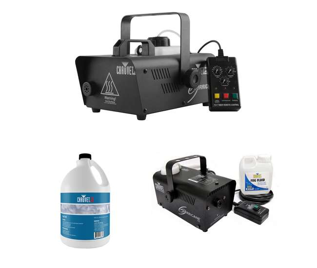 H1600 + H700 + FJU CHAUVET DJ Hurricane 1600 Fog Machine + Hurricane H700 Fog Machine + Fog Juice