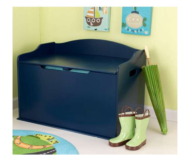 14959KidKraft Austin Wood Toy Box & Bench - Blueberry