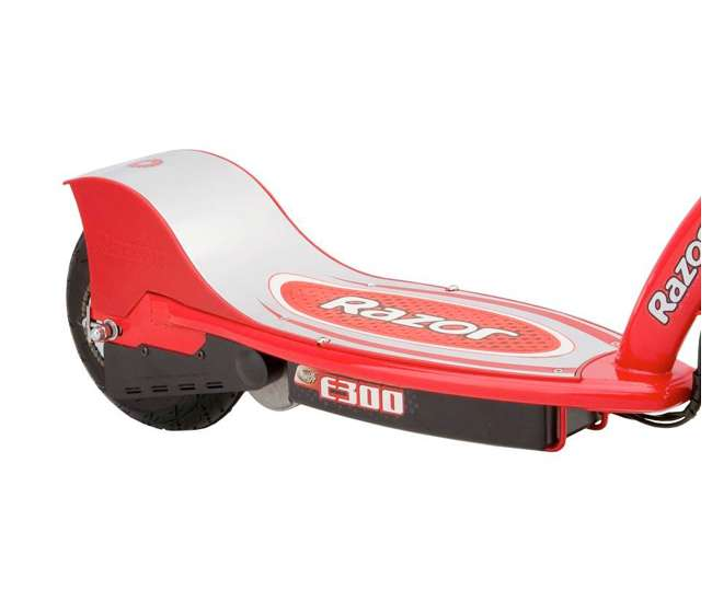 13113697 + 97778 + 96785 Razor E300 Electric Scooter (Red) with Helmet, Elbow and Knee Pads