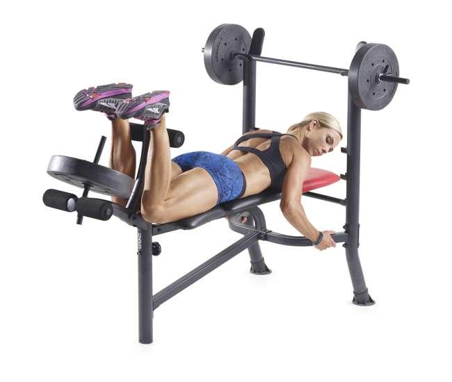 Home Gym Bench Set: Weider Pro 265 Bench Press Home Gym Set : 15963