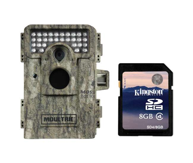 Moultrie Game Spy M 880 Low Glow Trail Camera 8gb Sd