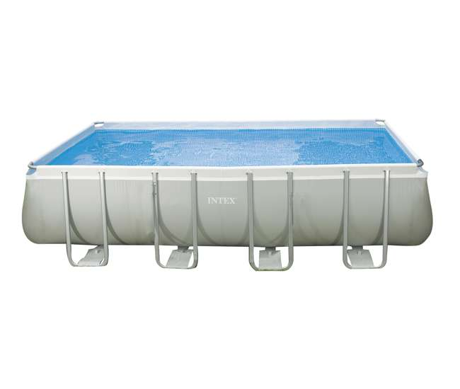Intex 18 39 x 9 39 x 52 ultra frame rectangular pool pump 28351eh for Intex rectangular swimming pool