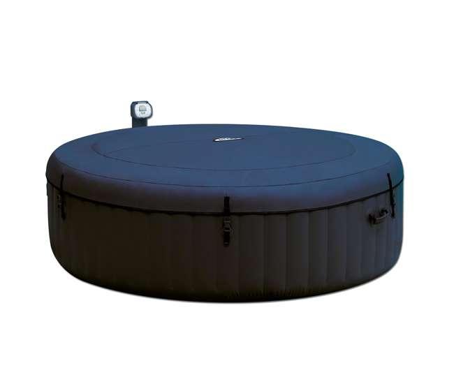 intex pure spa inflatable 6 person bubble hot tub 28409e. Black Bedroom Furniture Sets. Home Design Ideas