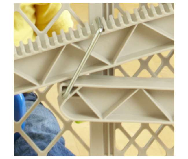 8699 North States Top-Notch Plastic Pressure Mounted Baby / Pet Safety Gate | 8699