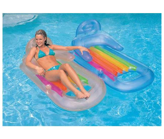 58802EP Intex King Kool Swimming Pool Lounger with Headrest (Pair)