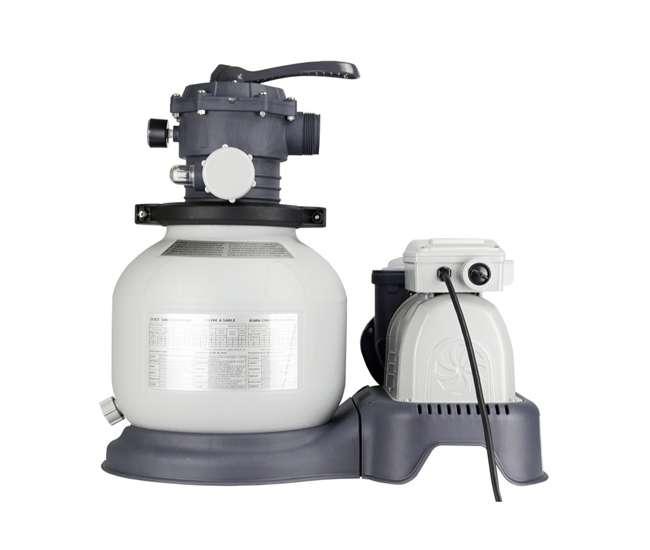 Intex 2100 gph sand filter pool pump with gfci 28645eg for Intex pool pumps
