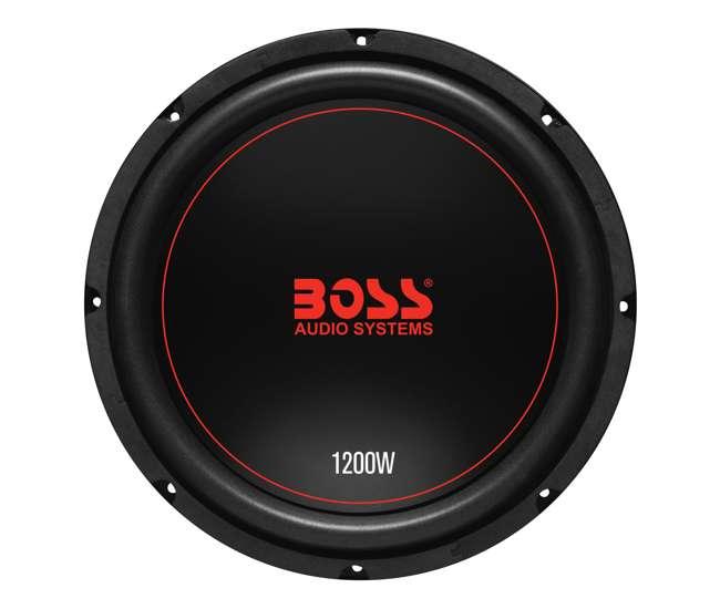 CXX124DVC + QSMBASS12 + R1100M + AKS8 Boss Chaos 12-Inch 1200W Subwoofer (Pair) with Box, Mono Amp & Wiring