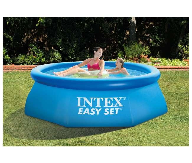 Intex 8 39 x 30 easy set inflatable swimming pool 28110e 56970e for Inflatable quick set swimming pool