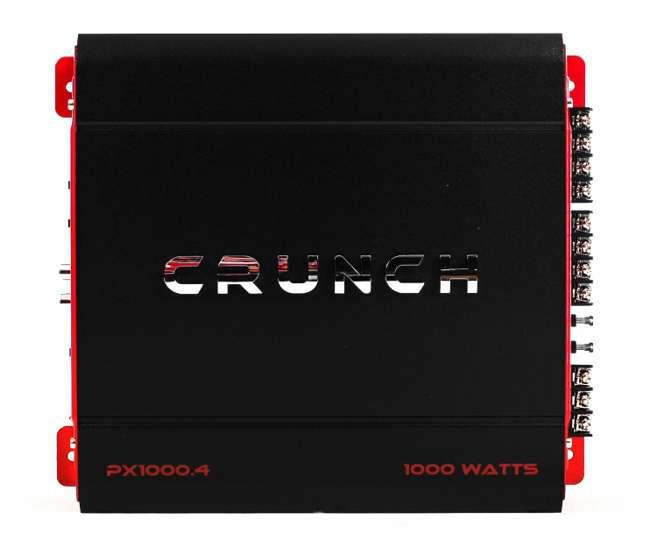 PX-1000.4 + PX-1000.2 + AKS8 Crunch 4 Channel 1000W A/B Amplifier & 2 Channel Amp & Wiring Kit