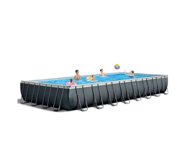 "26377EH + 2 x 58868EP + 58821EP Intex 32' x 16' x 52"" Pool w/Lounge (2 Pack) and Cooler"