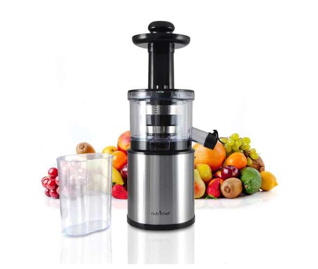 Countertop Juicer : ... NutriChef PKSJ30 200W Kitchen Vegetable Fruit Countertop Slow Juicer