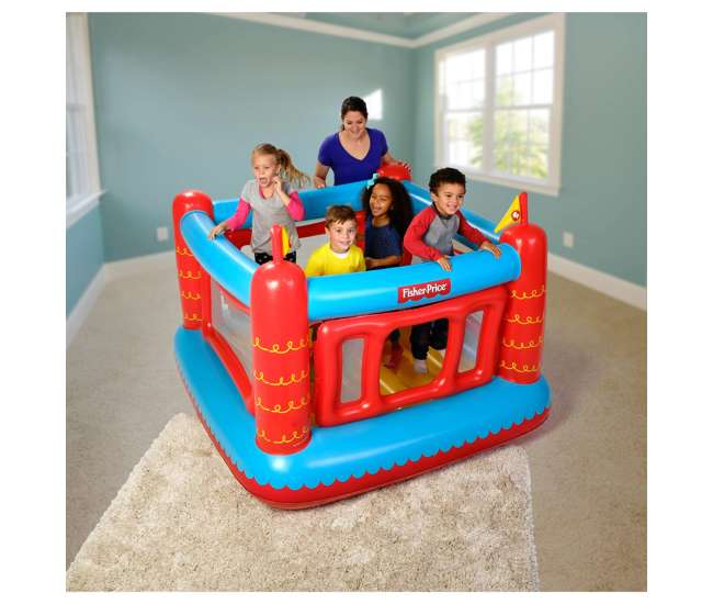 93504E-BW Inflatable Castle Bouncer With Removable Mesh Walls (Open Box) (2 Pack)