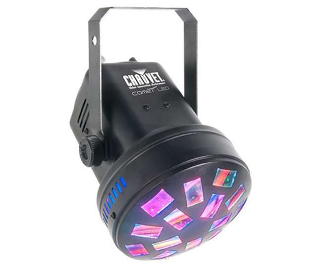 COMET + H700 + 2 x CH-730 + 2 x NV-F18 2) Chauvet Comet LED Pro DJ Rotating Lights + Fog Machine + Strobe & Blacklights