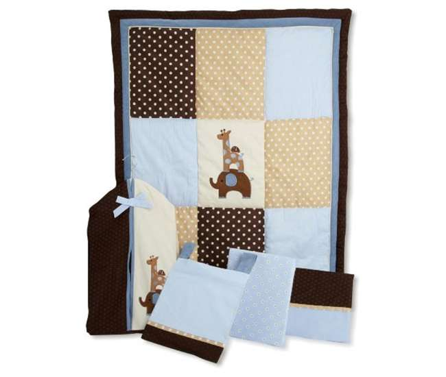 Lambs Amp Ivy Jake Giraffe Amp Elephant 5 Piece Crib Bedding