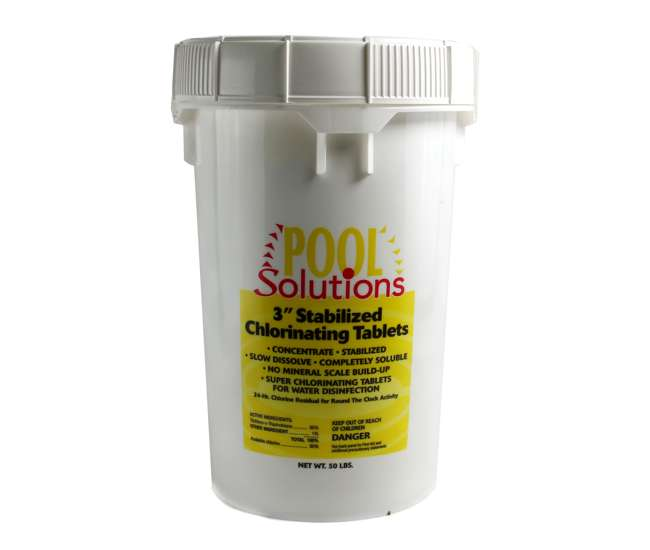P27050DEPool Solutions 3-Inch Wrapped Chlorine Tablet Swimming Pool 50 lbs