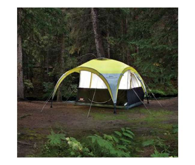 Coleman Shelters And Canopies : Coleman two person for all day dome tent w shelter